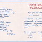 """2007. Сертификат участника конкурса """"Русский медвежонок - языкознание для всех"""""""