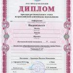 Диплом призёра Всероссийской олимпиады школьников по информатике