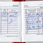 Зачётка Максима Метель, студента 1 курса Омского Государственного Технического Университета